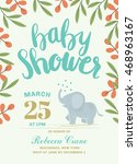 baby shower printable card with ... | Shutterstock .eps vector #468963167