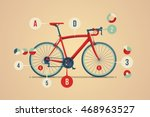 bicycle info graphic | Shutterstock .eps vector #468963527
