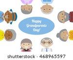 happy grandparents day. vector...   Shutterstock .eps vector #468965597