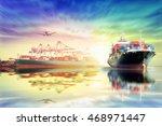 logistics and transportation of ... | Shutterstock . vector #468971447