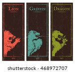 vector set vintage posters with ... | Shutterstock .eps vector #468972707