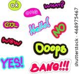 sticker pin trendy label patch... | Shutterstock .eps vector #468975467