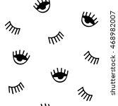 eyes. vector seamless pattern | Shutterstock .eps vector #468982007