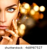 beauty fashion woman with... | Shutterstock . vector #468987527
