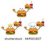burger cartoon mascot character ...