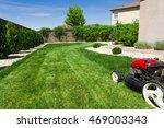 lawn mower | Shutterstock . vector #469003343