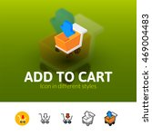 add to cart color icon  vector...