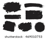 vector set of grunge artistic... | Shutterstock .eps vector #469010753