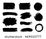 vector set of grunge artistic... | Shutterstock .eps vector #469010777