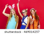 young nice girls have fun on a... | Shutterstock . vector #469014257