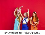 young nice girls have fun on a... | Shutterstock . vector #469014263