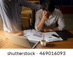 young businessman stressed jobs ... | Shutterstock . vector #469016093