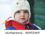little girl in winter parka... | Shutterstock . vector #46902469
