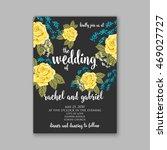 beautiful wedding floral vector ... | Shutterstock .eps vector #469027727