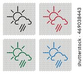 weather icon. sun behind the... | Shutterstock .eps vector #469038443