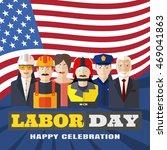 vector poster of happy labor... | Shutterstock .eps vector #469041863