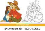 dorothy and scarecrow.... | Shutterstock .eps vector #469046567
