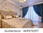 bedroom with a beautiful... | Shutterstock . vector #469070297