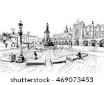 poland. krakow. hand drawn... | Shutterstock .eps vector #469073453