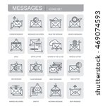 set of vector icons. messages | Shutterstock .eps vector #469074593