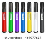 Colorful Markers Set Vector...