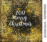 dark gold glitter merry... | Shutterstock .eps vector #469084403