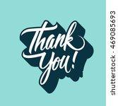 thank you handwritten... | Shutterstock .eps vector #469085693