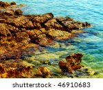 rocks and sea | Shutterstock . vector #46910683