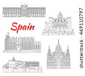 Spanish Tourist Sights Icon Of...