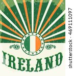 ireland vintage old poster with ... | Shutterstock .eps vector #469111097
