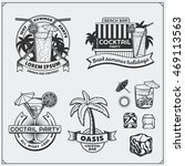 collection of cocktails emblems ...   Shutterstock .eps vector #469113563