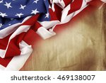 american flag on brown... | Shutterstock . vector #469138007