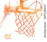 basket ball sketch. vector eps... | Shutterstock .eps vector #469138247