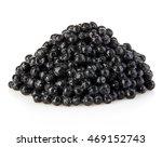black sturgeon caviar isolated... | Shutterstock . vector #469152743