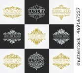 luxury logo set | Shutterstock .eps vector #469167227