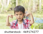 portrait handsome little young... | Shutterstock . vector #469174277