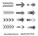 halftone arrows.dotted arrow... | Shutterstock .eps vector #469192793