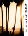 silhouette of man and people... | Shutterstock . vector #469204007