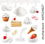 whipped cream and milk. sweet... | Shutterstock .eps vector #469224827