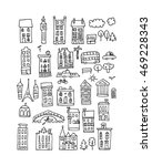 european city icons  sketch for ... | Shutterstock .eps vector #469228343
