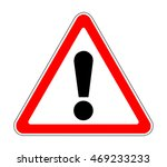 russia road warning sign | Shutterstock .eps vector #469233233