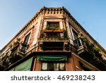 colorful old and shabby... | Shutterstock . vector #469238243