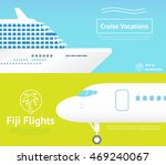 summer travel banners with... | Shutterstock .eps vector #469240067