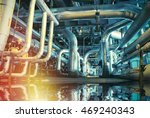 equipment  cables and piping as ... | Shutterstock . vector #469240343