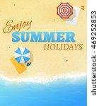 summer beach party banner flyer ...   Shutterstock .eps vector #469252853