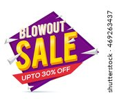 blowout sale with 30  discount... | Shutterstock .eps vector #469263437