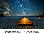 camping tent at night against... | Shutterstock . vector #469264007