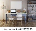 mockup poster blank on the... | Shutterstock . vector #469270253