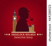 sherlock holmes poster. baker... | Shutterstock .eps vector #469288523