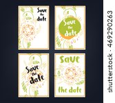 """save the date"" flower cards 